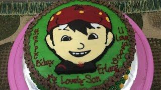 Boboiboy Cake Buttercream Transfer How to Make