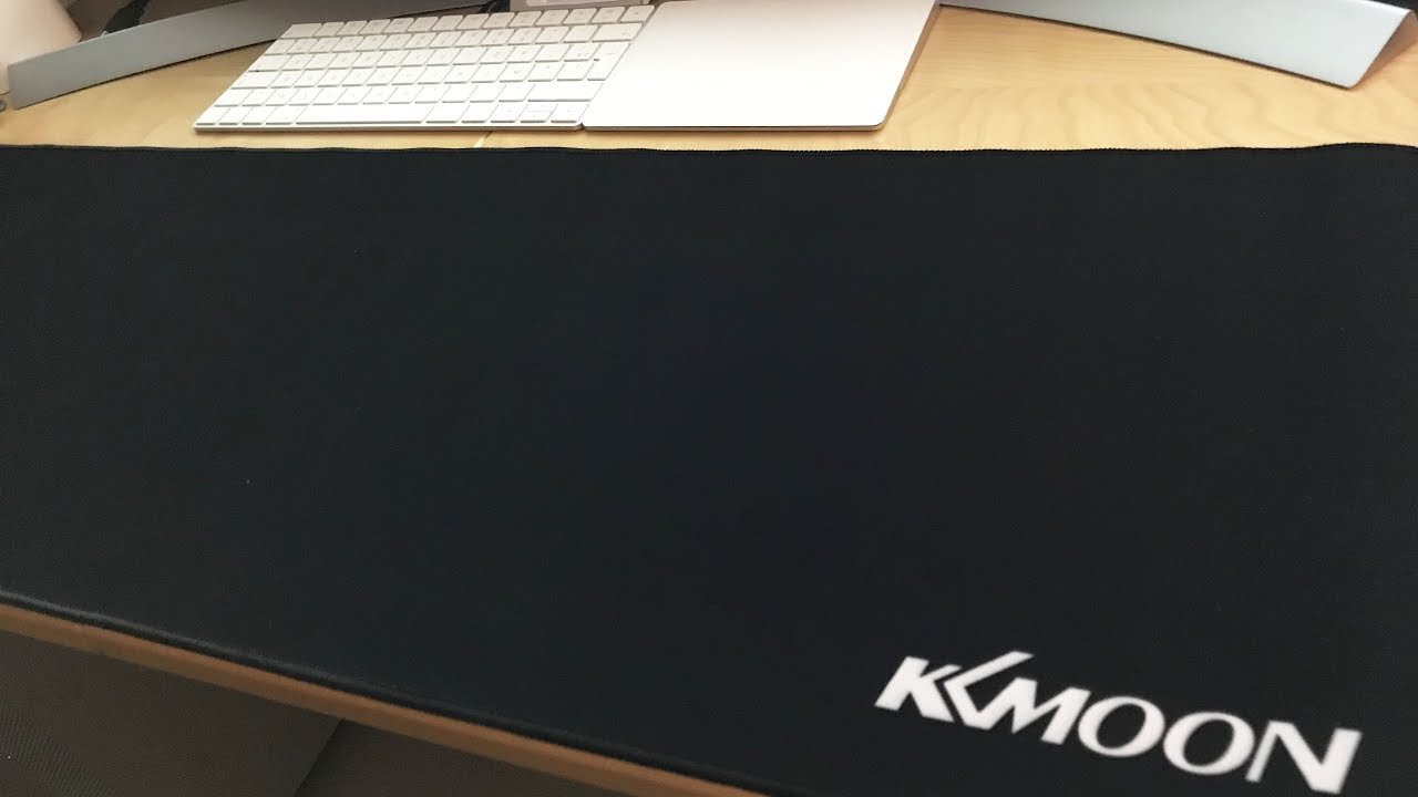 Kkmoon 900x300x3mm Black Gaming Mouse Pad Extended Water Resistant Anti Slip Rubber Sd Desk Mat
