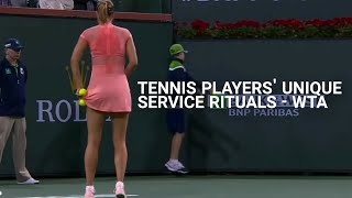 Service Rituals of Tennis Players (WTA version) featuring Maria Sharapova Naomi Osaka and others