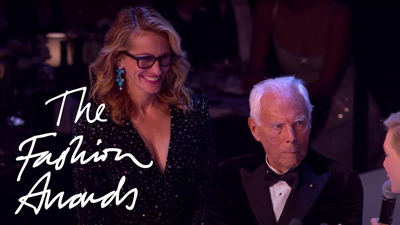Giorgio Armani | Award for Outstanding Achievement | The Fashion Awards 2019