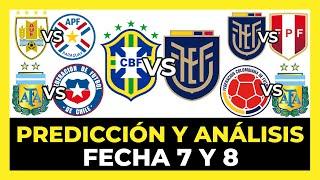 Predicción y Análisis Fecha 7 y 8 Eliminatorias Sudamericanas Qatar 2022   Tabla de Posiciones ⚽?