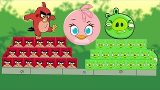 Angry Birds Kick Bad Piggies - RED AND STELLA TRANSFORM TO KICK PIGGIES!