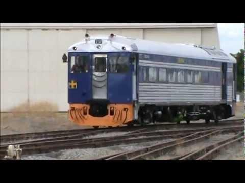 Bluebird 257 Kestrel Relaunch at the National Railway Museum, Port Adelaide. 9-3-2013.