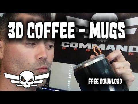 Tuff Coffee Mug - 3D Printed - free download