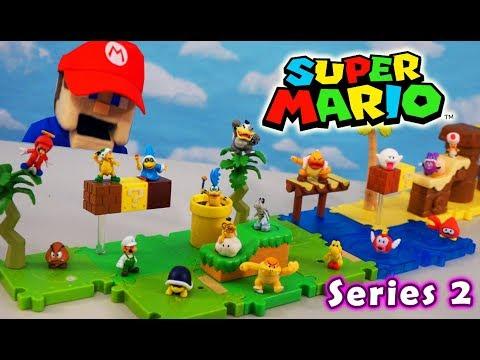 Super Mario Bros Micro U Series 2 Desert Plains Figure Packs! World Of Nintendo Unboxing
