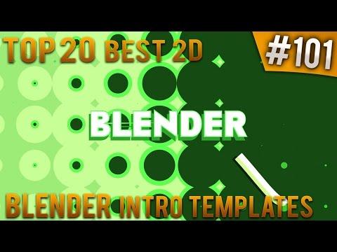 TOP 20 BEST Blender 2D Intro Templates #101 (Free Download)