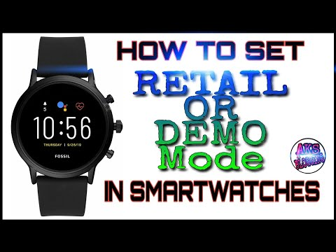How To Set Retail Or Demo Mode In Smartwatches