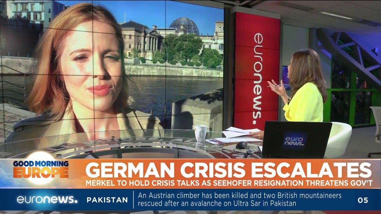 German Crisis Escalates: Merkel to hold crisis talks as Seehofer resignation threatens government