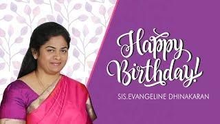 Sis. Evangeline Paul Dhinakaran Birthday | Jesus Calls | Praying For The World