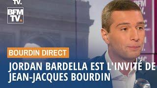 Jordan Bardella face à Jean-Jacques Bourdin en direct