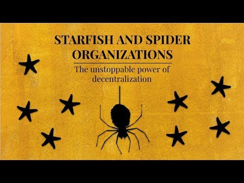 Starfish And Spider Organizations: The Unstoppable Power Of Decentralization
