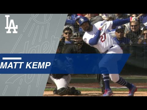 Matt Kemp smashes a three-run homer in return to Dodgers