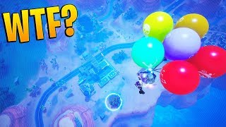 WINNING A GAME OF FORTNITE LIVE WITH BALLOONS! THE ULTIMATE BALLOON WIN IN FORTNITE! FUNNY MOMENTS