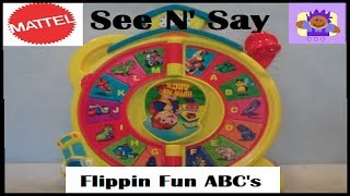 2003 See 'n Play Flippin' Fun Abc's Plastic Spin Wheel By Mattel