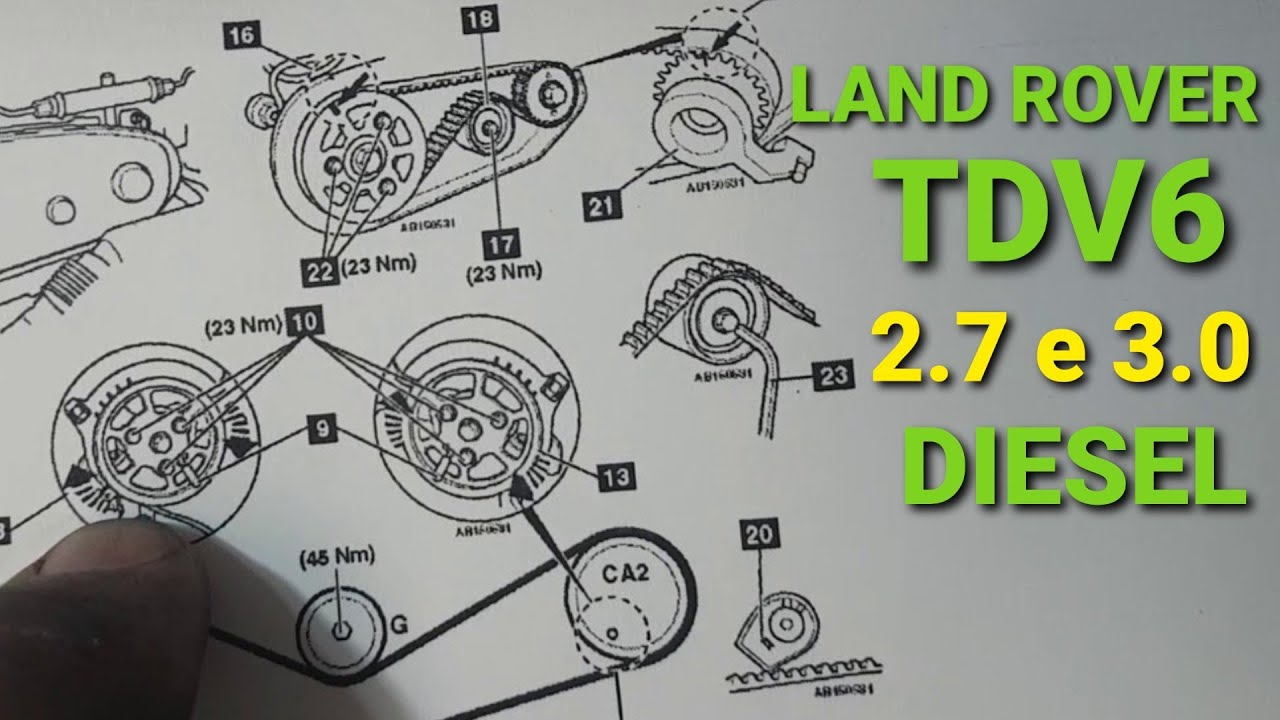 sincronismo / timing belt - tdv6 land rover discovery 3 / 4