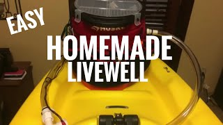 How To Build A Kayak Fishing Bucket Livewell Bait Tank Storage Setup!