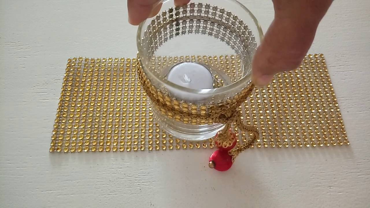 Diy Gold Candle Holders Diy Gold Look Unique And Beautiful Candle Holders Diwali Decor