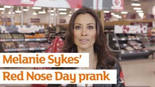 Melanie Sykes wreaks havoc in Sainsbury's for Red Nose Day prank | Sainsbury's