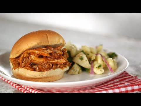 Pulled Barbecue-Chicken Sandwiches- Everyday Food with Sarah Carey