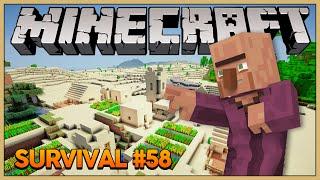 Minecraft Survival #58: Finalmente uma Vila!!!