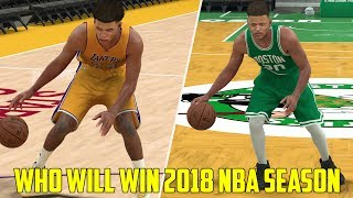 WHAT TEAM WILL WILL WIN THE 2017-18 NBA CHAMPIONSHIP? NBA 2K17!