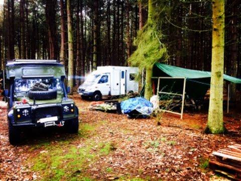 Bug out vehicles UK new base camp.