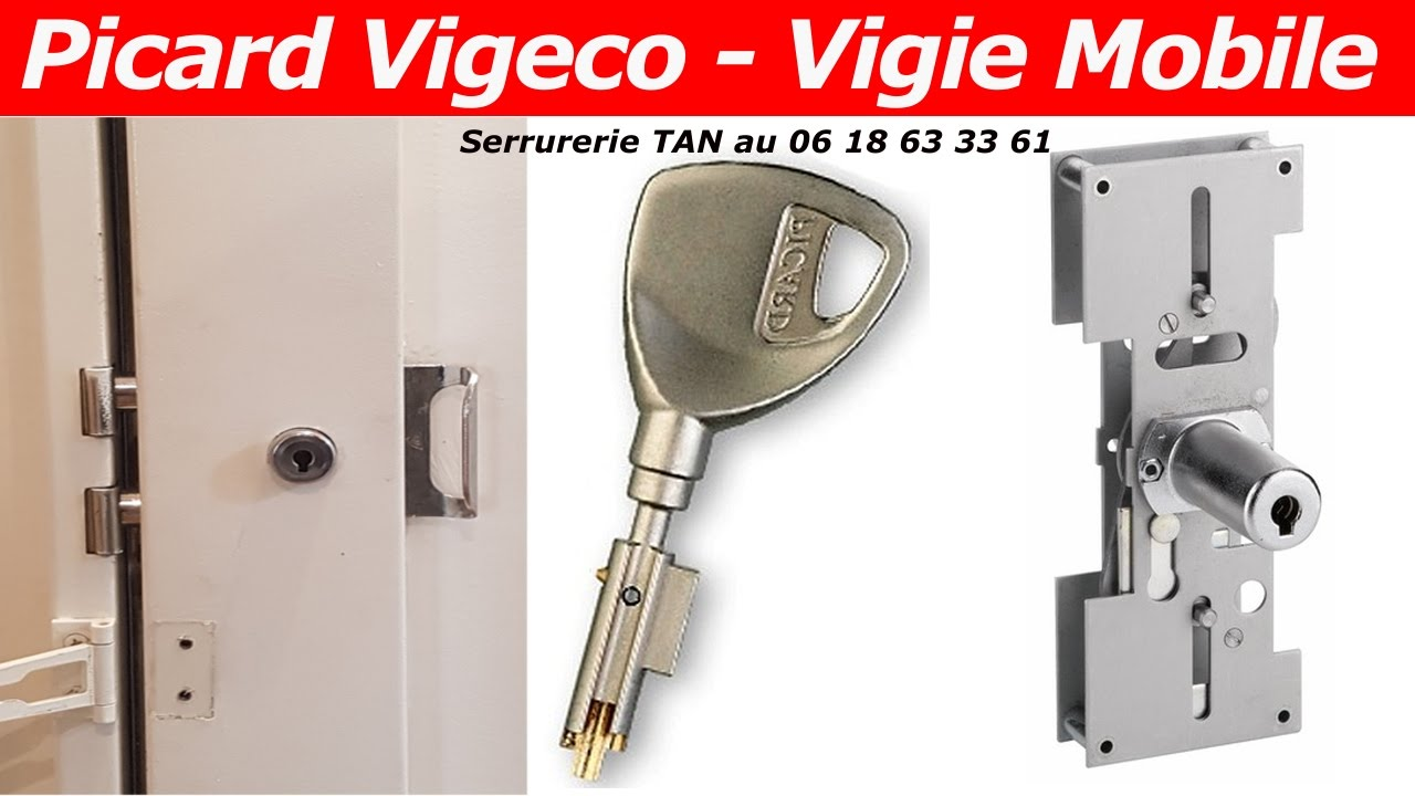 tuto comment changer une serrure picard vigeco vigie mobile youtube. Black Bedroom Furniture Sets. Home Design Ideas