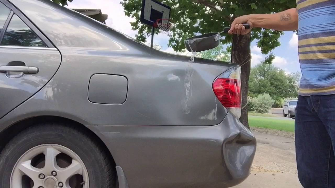 Lifehacks Using Boiling Water To Get Car Dents Out Youtube