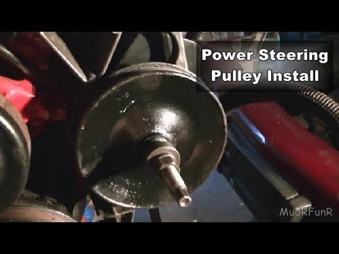 GM 4.3L Power Steering Pulley Install