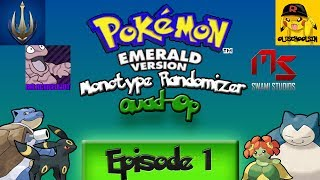 Pokemon Emerald 4 Player Co-Op Monotype Random Encounter - Part 1 ~ SO MANY SCREENS