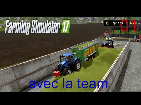 farming simulator 2017/épisode 1 avec la team en Multi/ big ensilage