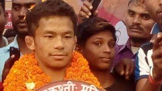 Thapa pahalwan nepal kusti dangal mandhata kusti RDRP digri collage Thapa vs baba