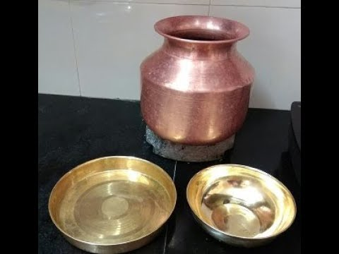 How to clean copper and brass vessel|cleaning copper and brass pooja vessel|cleaning tips