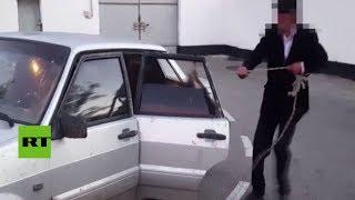 ¡Deténgase!: El inusual descubrimiento de un policía ruso al inspeccionar un auto