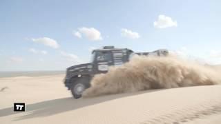 Kamaz Master Dakar 2017(Kamaz presenta su nuevo camión para competir en el Dakar 2017. El nuevo Kamaz Master 2017 destaca por su nuevo diseño de cabina detrás del eje ..., 2016-06-24T10:51:59.000Z)