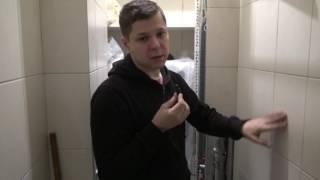 видео Как спрятать трубы в ванной комнате, закрыть в короб стояк