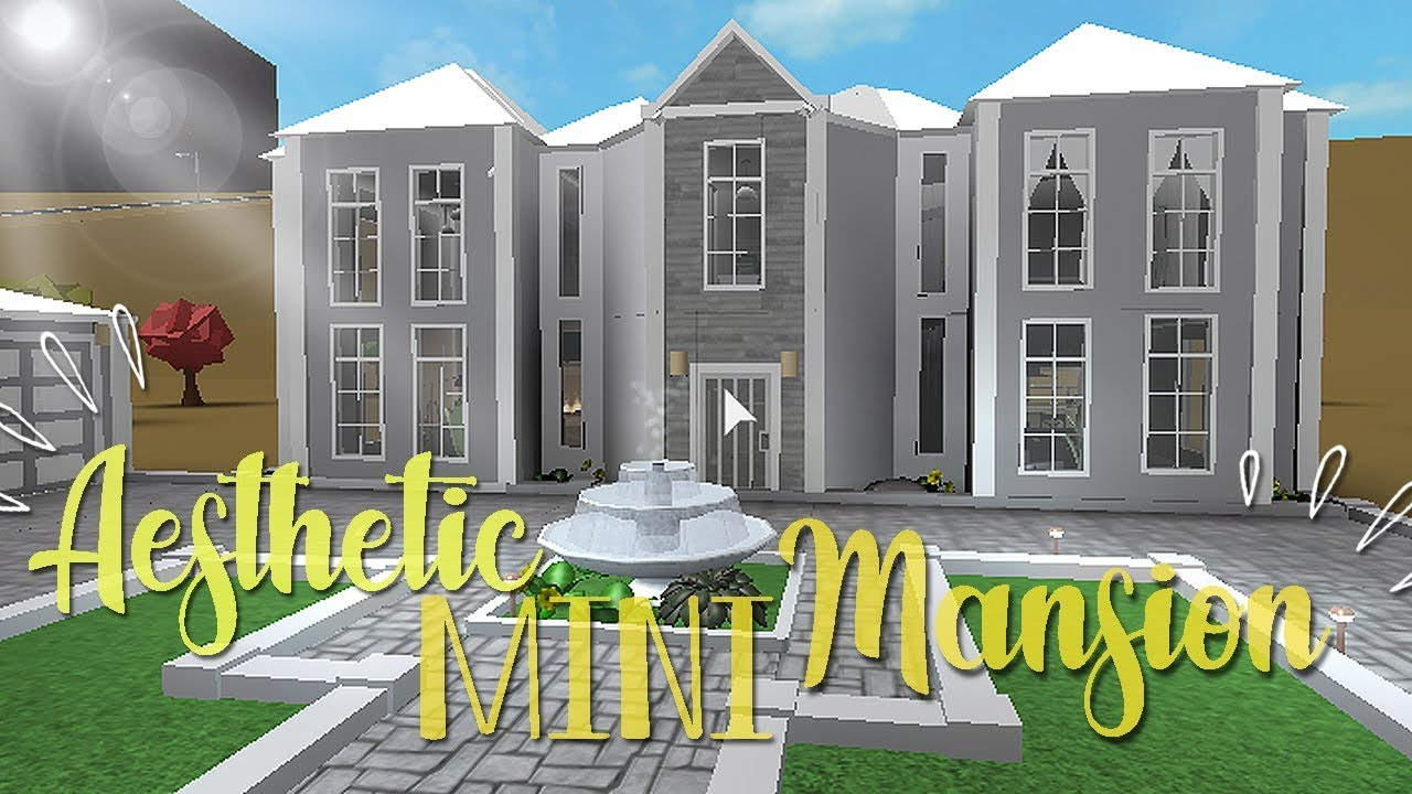 Bloxburg Aesthetic Mini Mansion 50k Youtube
