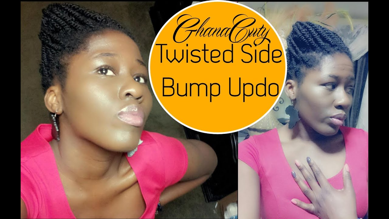 Twisted Side Bump Updo On Natural Hair Youtube