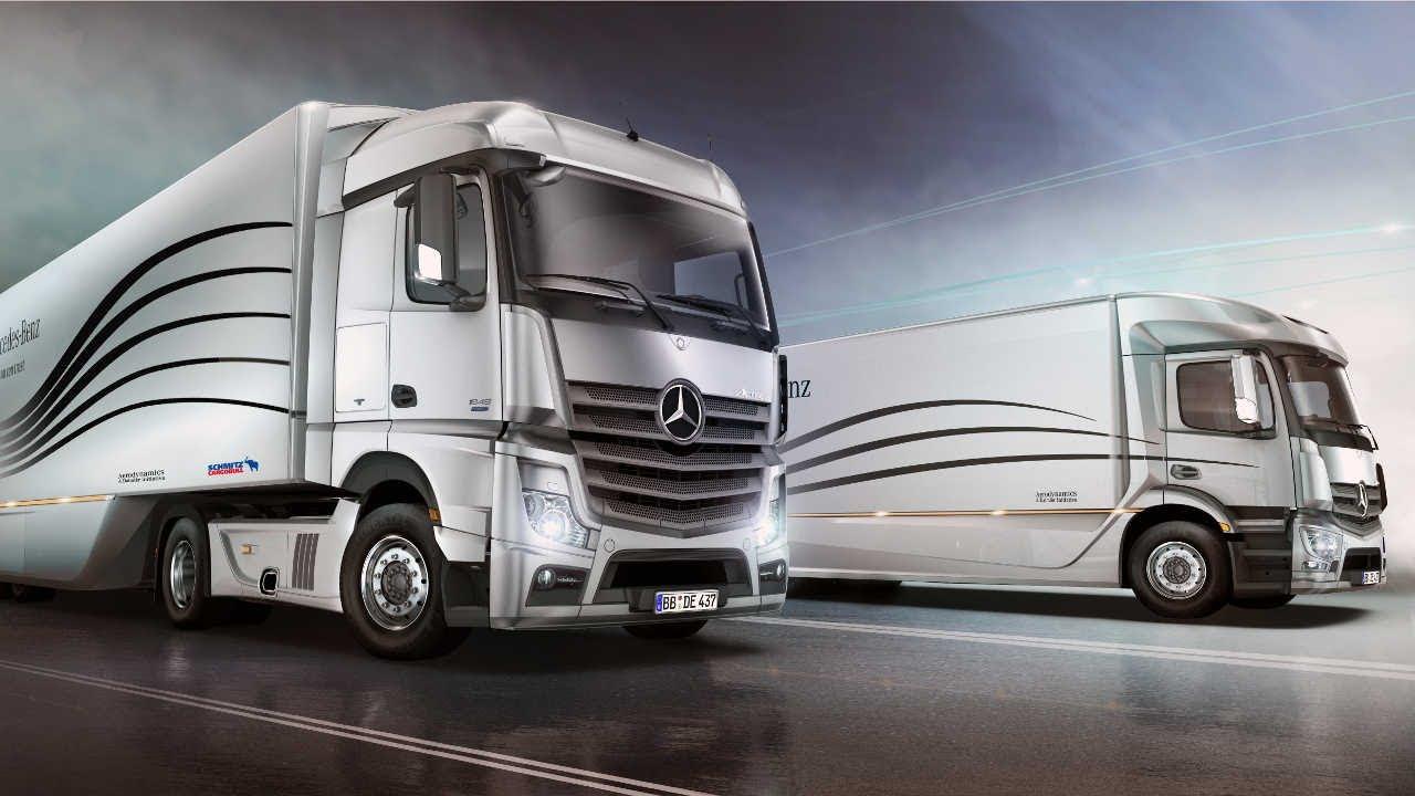 Mercedes Benz Rv >> Mercedes-Benz Aerodynamics Truck & Trailer - YouTube