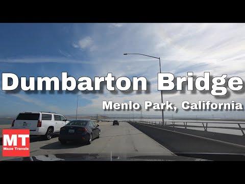 Dumbarton bridge - Menlo Park, California - Drive Tour USA 🏆