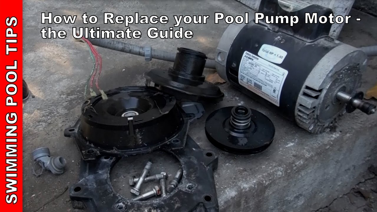 how to replace pool pump motor