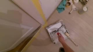 Покраска межкомнатных дверей. Акриловой краской. (Канадка). Видео.