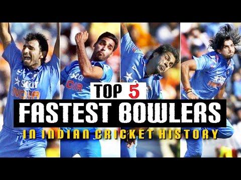 Top 5 Fast Bowlers of India by 2016। भारत के 5 सर्वाधिक तेज गेंदबाज