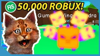 I Spent 50,000 Robux on this Pet in Roblox Bubble Gum Simulator (Gummy Winged Hydra)