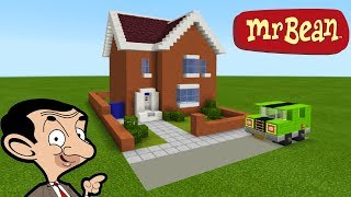 """Minecraft Tutorial: How To Make Mr Beans House """"Mr. Bean (animated TV series)"""""""