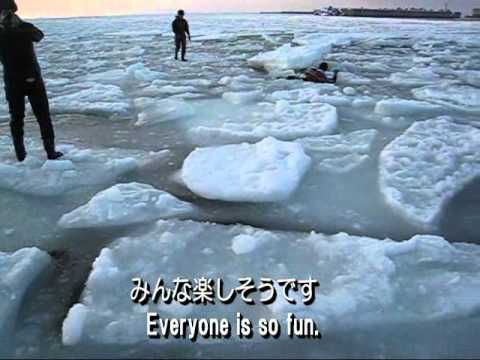流氷ウォーク   Drift ice walking tour of Hokkaido,Japan 日本北海道知床的流冰