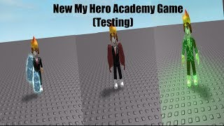 New test Game in Roblox | Boku No Hero Academia Quirk Testing