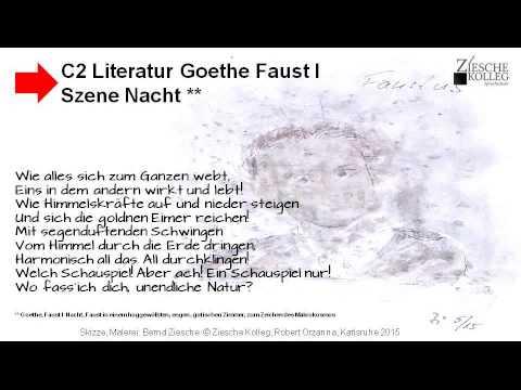C1 C2 Goethe Faust Zitate Nacht Makrokosmos Youtube
