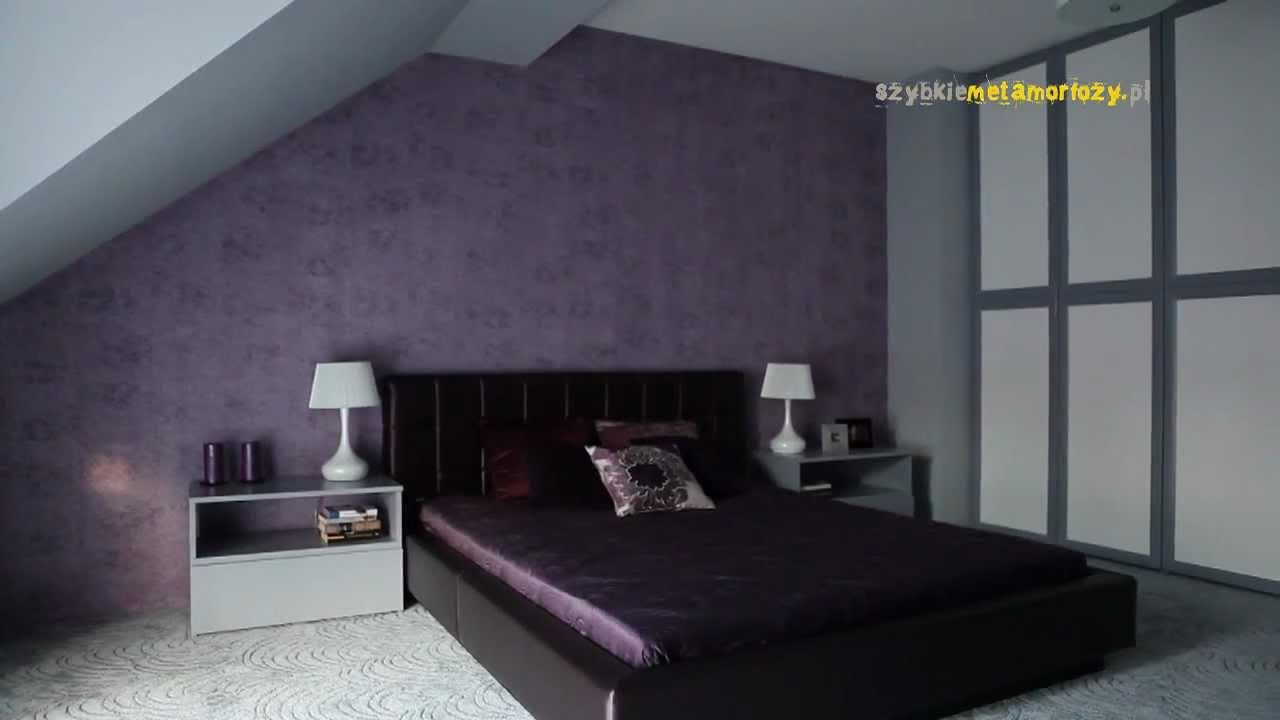 szybkie metamorfozy odc 37 sypialnia z fioletem w tle