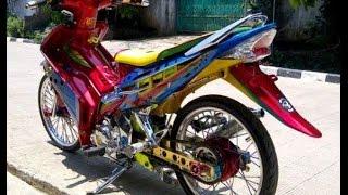 Repeat youtube video Motor Trend Modifikasi   Video Modifikasi Motor  Yamaha Jupiter  MX Airbrush Terbaru Part 2